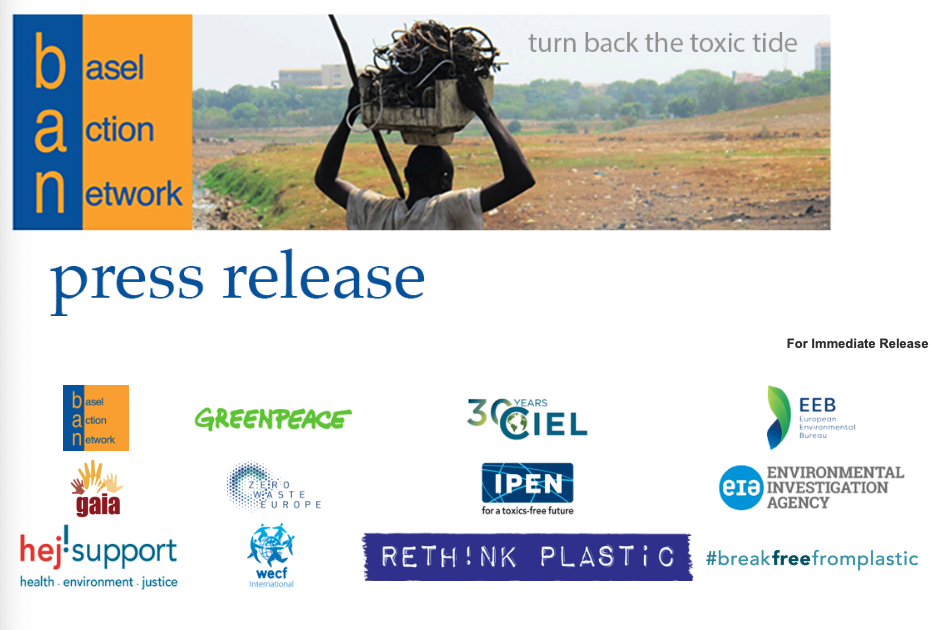 EU Promotes Greater Global Responsibility on Plastic Waste — But Not for Internal Market!