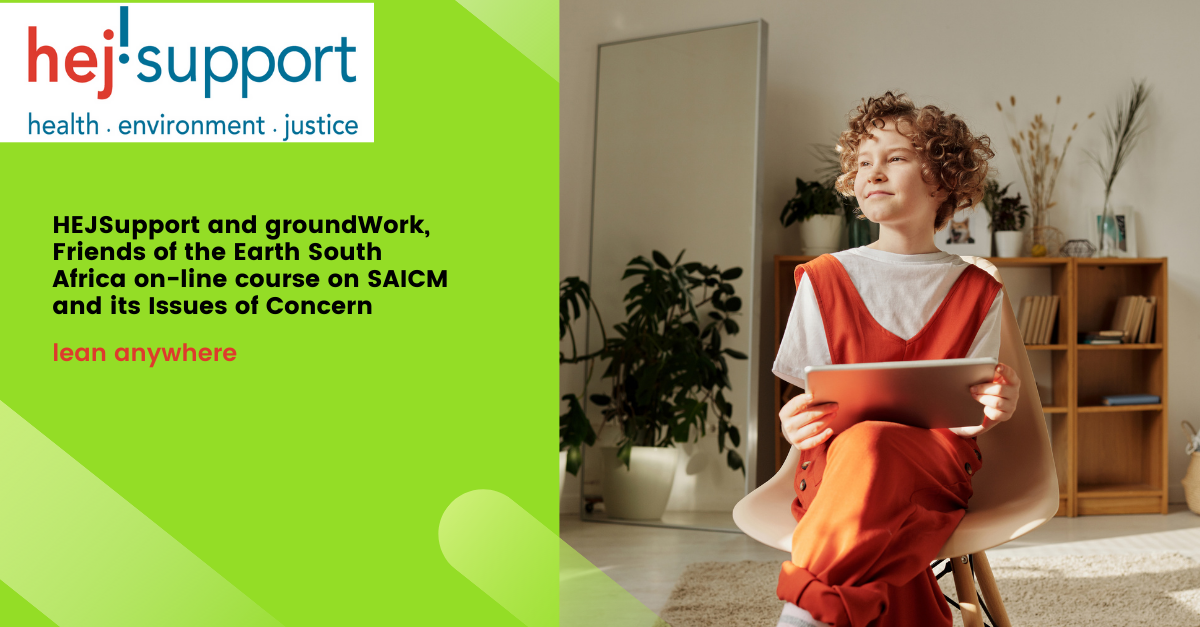 New on-line course on SAICM Issues of Concern